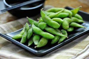 Cooked Green Organic Edamame
